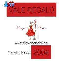 VALES DE REGALO 200euros